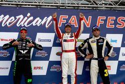 Podium: 2. Anthony Kumpen, PK Carsport; 1. Borja Garcia, Racers Motorsport; 3. Frederic Gabillon, RD