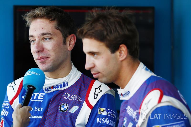 Robin Frijns, Amlin Andretti Formula E Team, ve Antonio Felix da Costa, Amlin Andretti Formula E Team