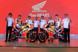 Marc Marquez, Repsol Honda Team, Dani Pedrosa, Repsol Honda Team ve Astra Honda Motor elemanları