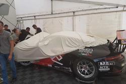 La Porsche 911 GT3 Cup di Alessio Rovera, Tsunami RT, dopo l'incidente