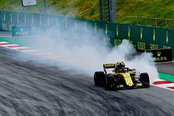 Carlos Sainz Jr., Renault Sport F1 Team R.S. 18 bloquea en la frenada