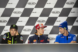 Жоан Зарко, Monster Yamaha Tech 3, Марк Маркес, Repsol Honda Team, и Андреа Янноне, Team Suzuki MotoGP