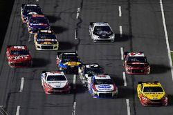Joey Logano, Team Penske, Ford Fusion Shell Pennzoil, A.J. Allmendinger, JTG Daugherty Racing, Chevrolet Camaro Kroger ClickList and Ryan Blaney, Team Penske, Ford Fusion Hawk/Carlisle