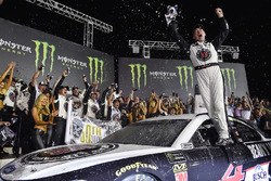 Kevin Harvick, Stewart-Haas Racing, Ford Fusion Jimmy John's, Celebrates in victory lane