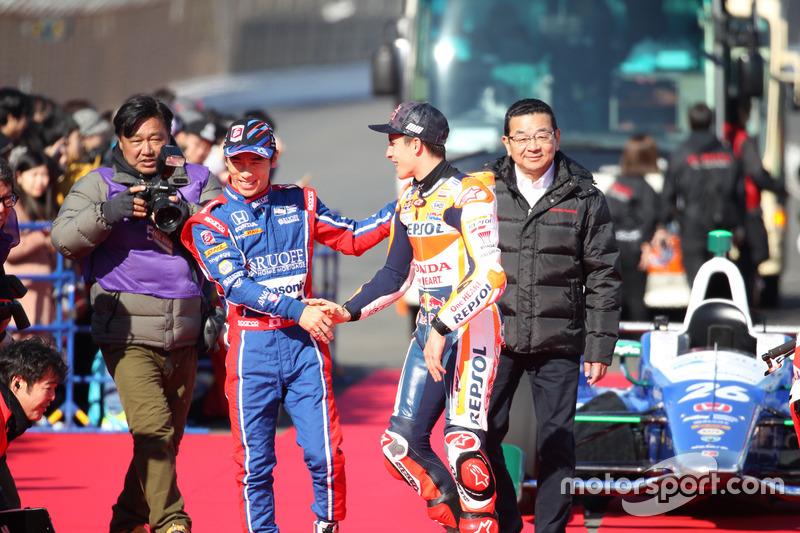 Takuma Sato and Marc Marquez