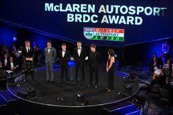 McLaren Autosport BRC Award adayları Enaam Ahmed, Harrison Scott, Max Fewtrell ve Dan Ticktum