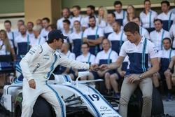 Felipe Massa, Williams et Paul di Resta, Williams à la photo d'équipe