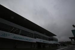 Dark clouds on Suzuka Circuit