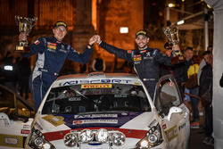 I vincitori di classe Damiano De Tommaso, Michele Ferrara, Peugeot 208 R2, Peugeot Sport Italia