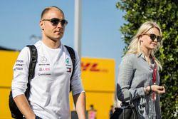 Valtteri Bottas, Mercedes-AMG F1 and wife Emilia Pikkarainen