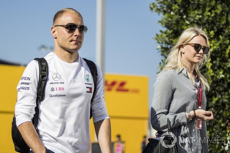 Valtteri Bottas, Mercedes-AMG F1 ve eşi Emilia Pikkarainen