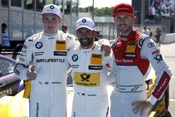 Top3 after qualifying, Timo Glock, BMW Team RMG, Joel Eriksson, BMW Team RBM, René Rast, Audi Sport Team Rosberg