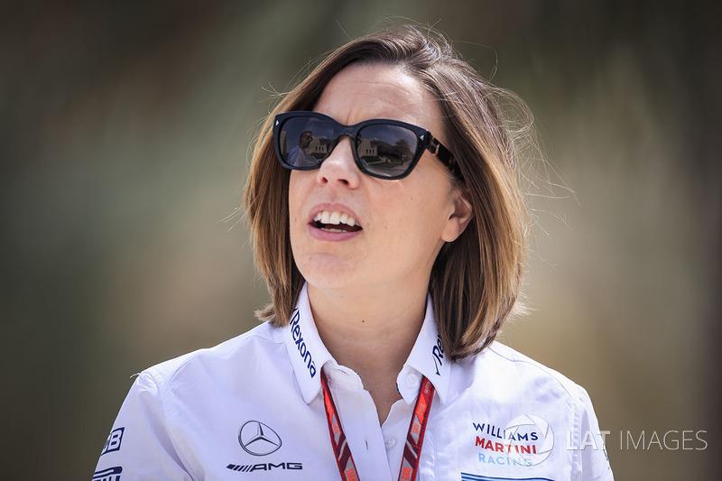 Claire Williams, vice directora del equipo