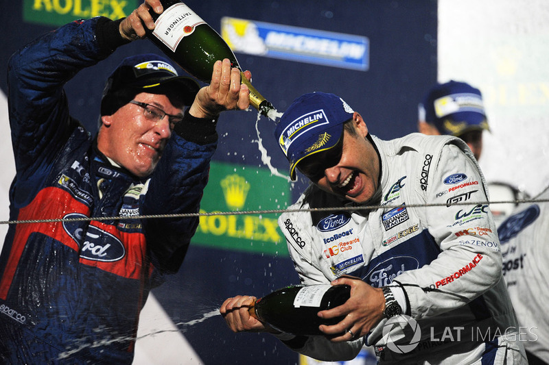 Podium GTE Pro: winner Andy Priaulx Ford Chip Ganassi Racing