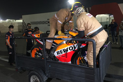Moto de Marc Marquez, Repsol Honda Team de la caída