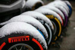 Pirelli-banden in de sneeuw