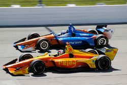 Zach Veach, Andretti Autosport Honda, Scott Dixon, Chip Ganassi Racing Honda