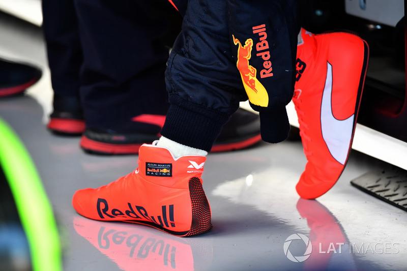 Racing boots of Max Verstappen, Red Bull Racing
