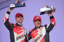 Giandomenico Basso et Lorenzo Granai, BRC Racing, podium