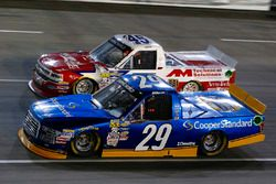 Chase Briscoe, Brad Keselowski Racing Ford and Austin Self, AM Technical Solutions Chevrolet Silverado