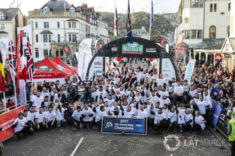 Sébastien Ogier, Julien Ingrassia, Ford Fiesta WRC, M-Sport, Ott Tänak, Martin Järveoja, Ford Fiesta WRC, M-Sport, Elfyn Evans, Daniel Barritt, Ford Fiesta WRC, M-Sport