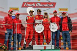 Podium Coppa Shell: Race winner #360 Formula Racing Ferrari 488: Johnny Laursen, second place #347 Charles Pozzi Ferrari 488: Henry Hassid, third place #301 Octane 126 Ferrari 488: Fabienne Wohlwend