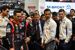 A WRC contingent, including Thierry Neuvile, Sébastien Ogier, Malcolm Wilson and Elfyn Evans, ahead of the season launch