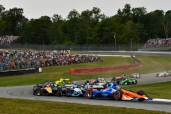 Scott Dixon, Chip Ganassi Racing Honda, au départ