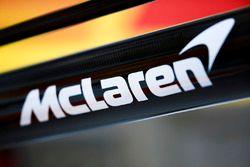 McLaren logo on the team's pit equipment