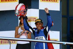Yarış galibi Galang Hendra, Yamaha