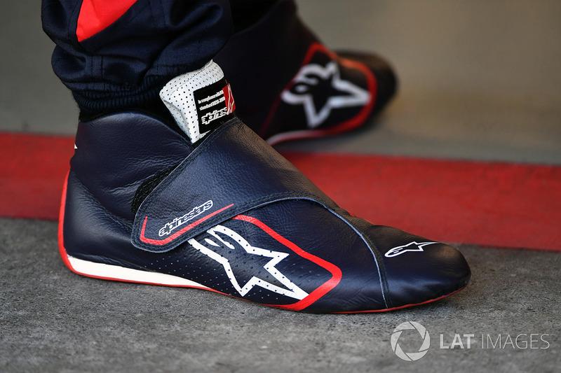 Botas Alpinestars de Brendon Hartley, Scuderia Toro Rosso