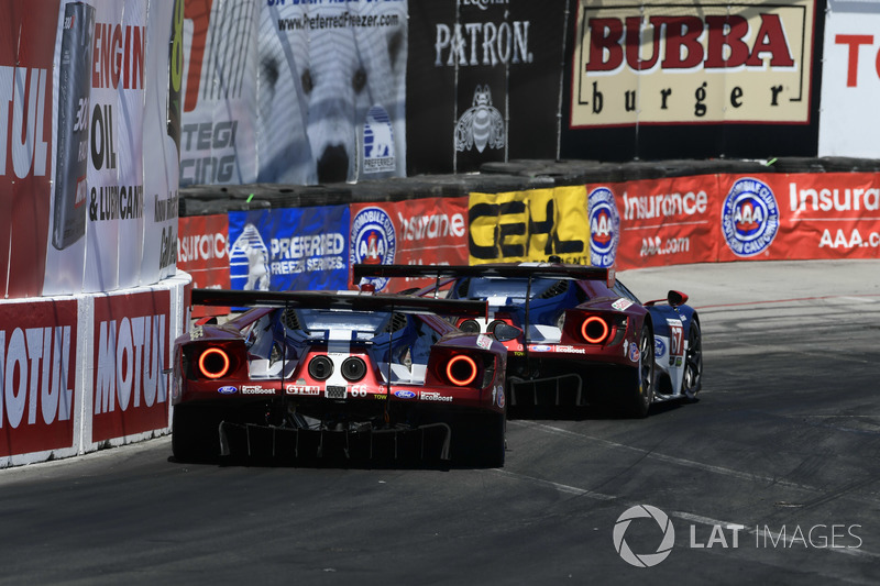 #66 Chip Ganassi Racing Ford GT, GTLM: Dirk Müller, Joey Hand, #67 Chip Ganassi Racing Ford GT, GTLM: Ryan Briscoe, Richard Westbrook