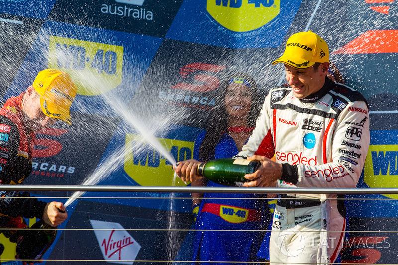 2. David Reynolds, Erebus Motorsport Holden, 3. Rick Kelly, Nissan Motorsport Nissan