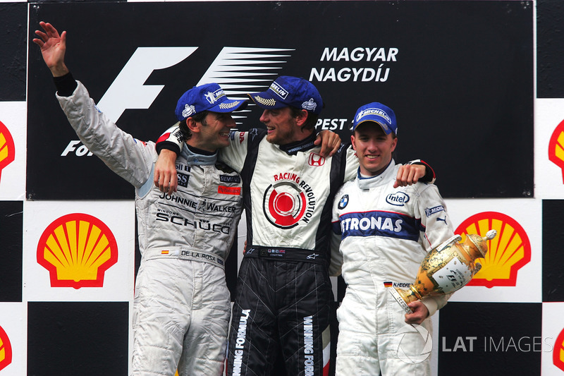 Podium: 1. Jenson BUtton, Honda; 2. Pedro de la Rosa, McLaren; 3. Nick Heidfeld, BMW Sauber