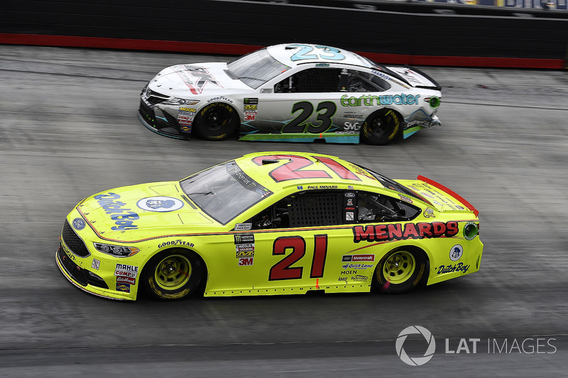 Paul Menard, Wood Brothers Racing, Ford Fusion Menards / Dutch Boy and Gray Gaulding, BK Racing, Toyota Camry Earthwater