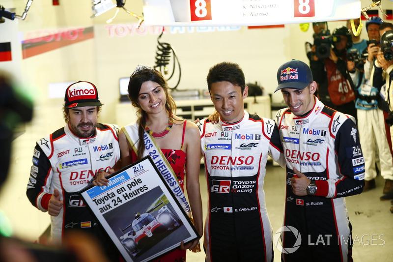 Pole position para el #8 Toyota Gazoo Racing Toyota TS050: Sébastien Buemi, Kazuki Nakajima, Fernando Alonso