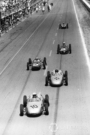 Jo Bonnier, Porsche 718, Dan Gurney, Porsche 718, Innes Ireland, Lotus 21, Giancarlo Baghetti, Ferrari Dino 156, Bruce McLaren, Cooper T55