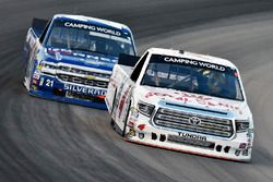Todd Gilliland, Kyle Busch Motorsports, Toyota Tundra Royal Canin and Johnny Sauter, GMS Racing, Chevrolet Silverado ISM Connect