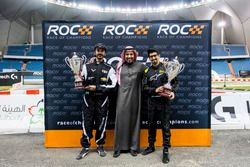Ahmed Bin Khanen and Fala Aljarba with Prince Khaled Al Faisal, President of the Motor Federation Of