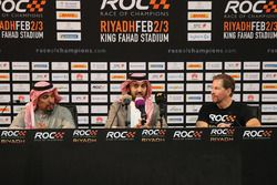 Prince Khaled Al Faisal, President of the Motor Federation Of Saudi Arabia, Prince Abdulaziz Al Faisal, Vice Chairman of the General Sports Authority of Saudi Arabia, and ROC President Fredrik Johnsson