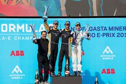 Jean-Eric Vergne, Techeetah, Andre Lotterer, Techeetah make up the first 1st 2nd finish in Formula E