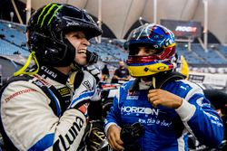 Petter Solberg of Team Nordic and Juan Pablo Montoya of Team Latin America