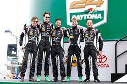 #19 GRT Grasser Racing Team Lamborghini Huracan GT3: Max van Splunteren, Ezequiel Perez Companc, Chr