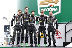 #19 GRT Grasser Racing Team Lamborghini Huracan GT3: Max van Splunteren, Ezequiel Perez Companc, Christian Engelhart, Christopher Lenz, Louis Machiels