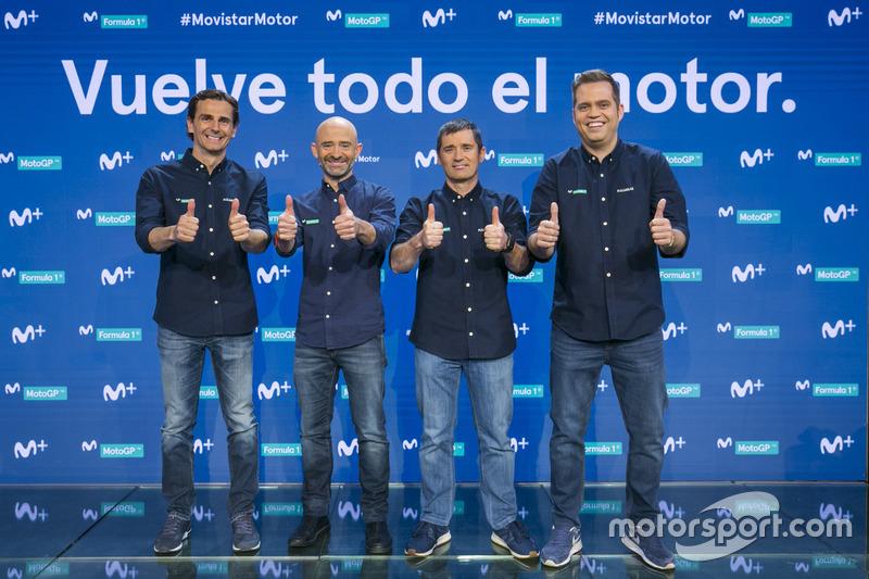 Pedro de la Rosa, Antonio Lobato, Toni Cuquerella e Iñaki Cano