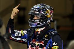 Il vincitore della gara e Campione del Mondo Sebastian Vettel, Red Bull Racing