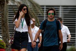 Fernando Alonso, McLaren et sa compagne Linda Morselli