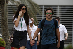 Fernando Alonso, McLaren and girlfriend Linda Morselli