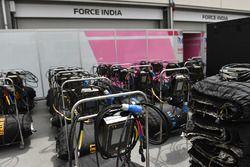 Des couvertures chauffantes Force India F1