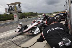 Josef Newgarden, Team Penske Chevrolet, pitstop